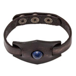 Handmade Leather 'Blue Soul' Lapis Lazuli Bracelet (Thailand)|https://ak1.ostkcdn.com/images/products/14262983/P20850342.jpg?_ostk_perf_=percv&impolicy=medium