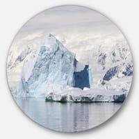 Designart 'Antarctica Mountains' Landscape Photo Disc Metal Artwork