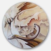 Designart 'Voice Inside' Abstract Digital Art Circle Wall Art