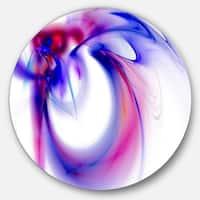 Designart 'Purple Abstract Fractal Art' Abstract Digital Art Circle Wall Art