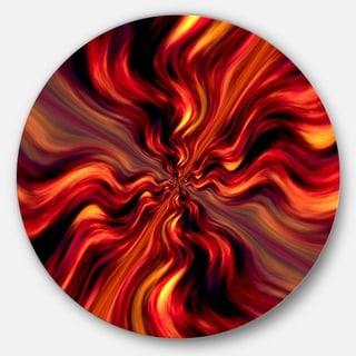 Designart 'Red Infinity Illustration' Abstract Digital Art Disc Metal Artwork