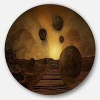 Designart 'Stones From Space' Abstract Digital Art Disc Metal Artwork
