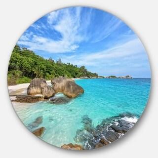 Designart 'Summer Sea in Thailand' Landscape Photo Round Wall Art