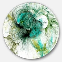 Designart 'Fractal Digital Paint Pattern' Abstract Digital Art Large Disc Metal Wall art