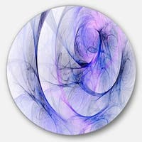 Designart 'Blue Storm Sky' Abstract Digital Art Disc Metal Wall Art