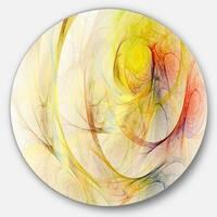 Designart 'Yellow Storm Sky' Abstract Digital Art Circle Wall Art