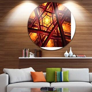 Designart 'Fractal Mandala Design' Abstract Digital Art Circle Wall Art