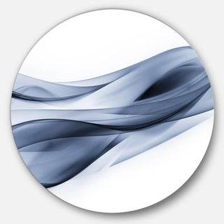 Designart 'Glittering Light Blue Pattern' Abstract Digital Art Circle Metal Wall Art