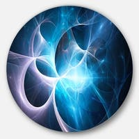 Designart 'Colorful Star Nebula. Distant magnificent galaxy. Stardust. Space wind' Round Metal Wall