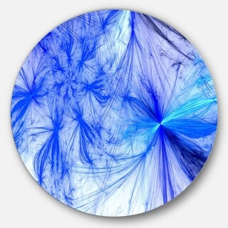Designart 'Christmas Fireworks Blue' Digital Art Disc Metal Artwork