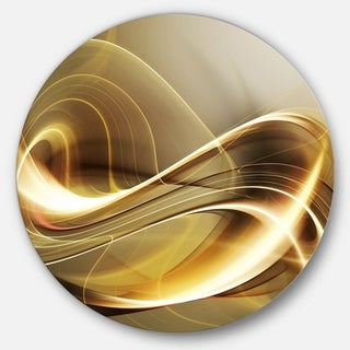 Designart 'Elegant Modern Sofa' Abstract Digital Disc Metal Artwork