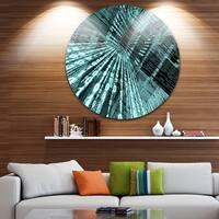Designart 'Binary Code' Contemporary Art Large Disc Metal Wall art