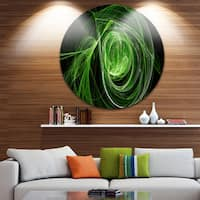 Designart 'Green Ball of Yarn' Abstract Digital Art Disc Metal Wall Art