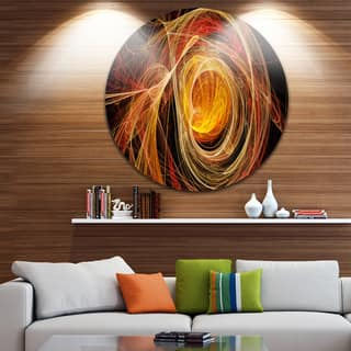Designart 'Orange Ball of Yarn' Abstract Digital Art Disc Metal Artwork|https://ak1.ostkcdn.com/images/products/14264105/P20851225.jpg?impolicy=medium