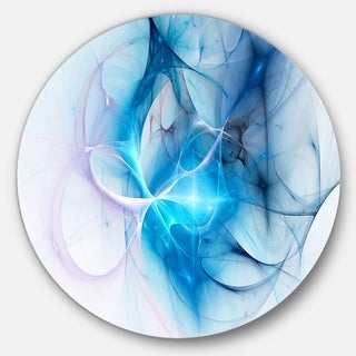 Designart 'Blue Nebula Star' Abstract Digital Art Circle Wall Art