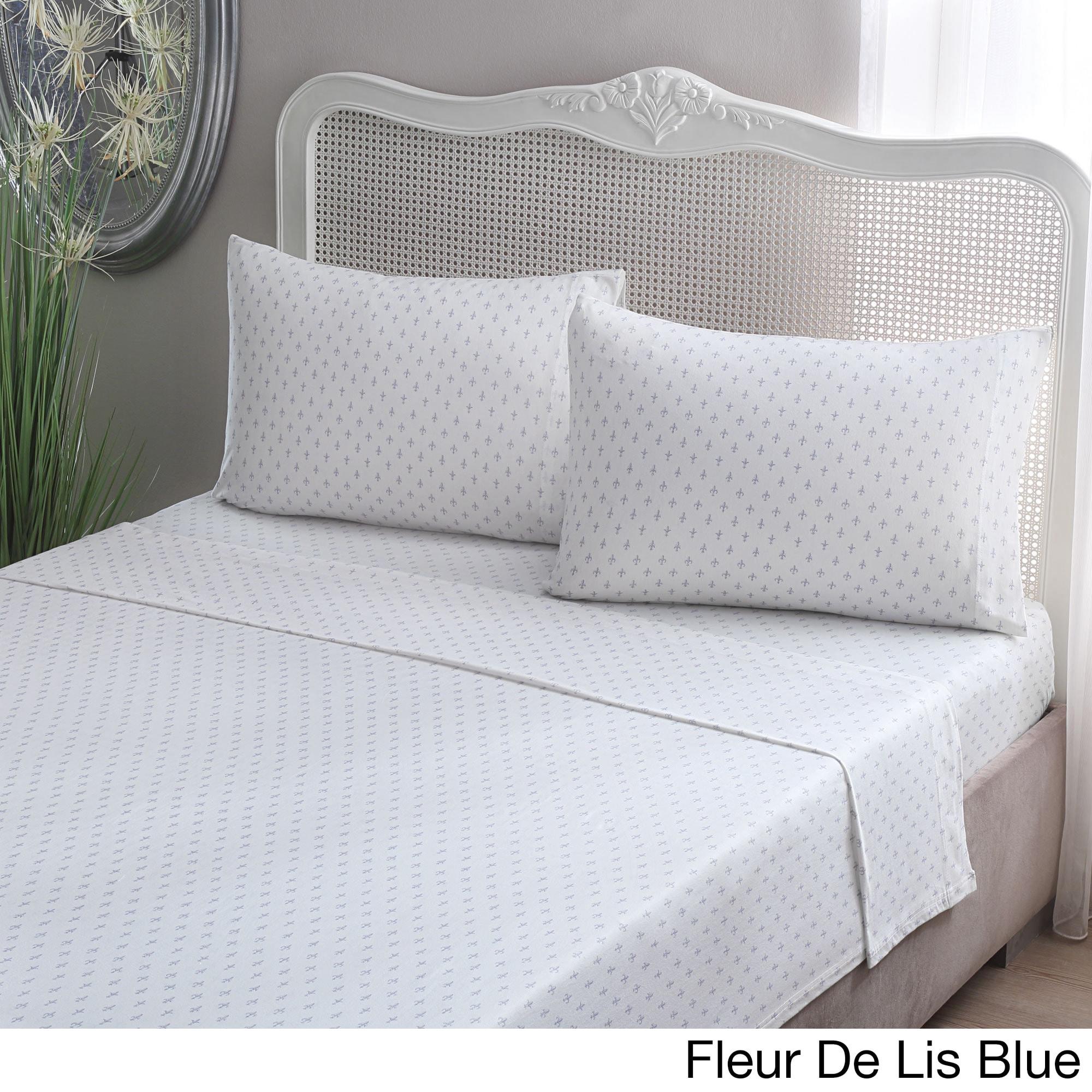 brielle fashion cotton jersey sheet set ebay. Black Bedroom Furniture Sets. Home Design Ideas