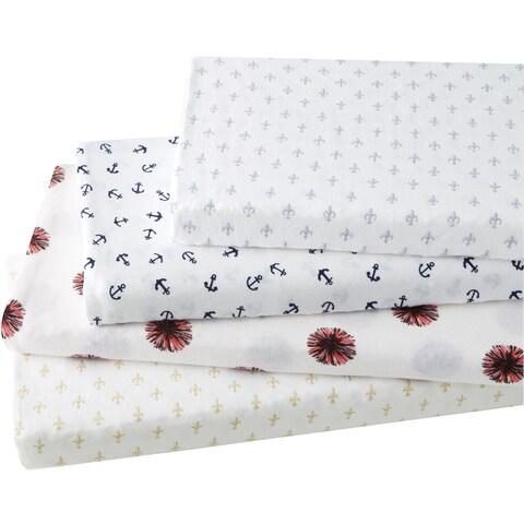 Brielle Fashion Cotton Jersey Sheet Set