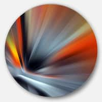 Designart 'Rays of Speed Lines' Abstract Digital Art Disc Metal Wall Art