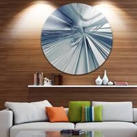 Designart 'Blue 3D Textured Art' Abstract Digital Art Disc Metal Wall Art