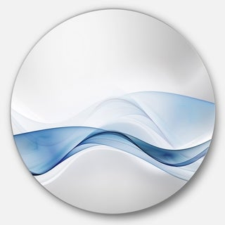 Designart '3D Wave of Water Splash' Abstract Digital Art Round Metal Wall Art (3 options available)