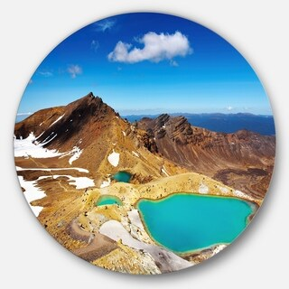 Designart 'New Zealand Emerald Lakes' Photo Disc Metal Artwork