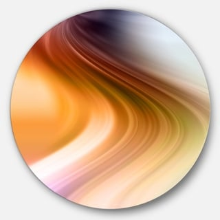 Designart 'Rays of Speed Green Orange' Abstract Digital Circle Wall Art