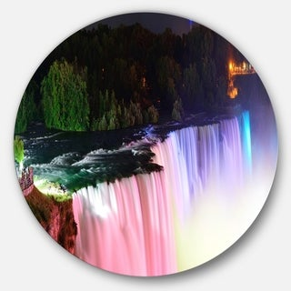 Shop Designart \'Colorful Niagara Falls Panorama\' Digital Art Metal ...