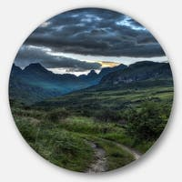Designart 'Giants Castle Hills' Landscape Photography Disc Metal Wall Art