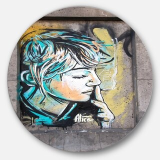 Designart 'Street Art by C215' Street Art Circle Wall Art