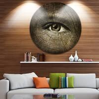 Designart 'Aging Eyes' Abstract Large Disc Metal Wall art