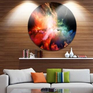 Designart 'Colorful Nebulae' Contemporary Disc Metal Artwork