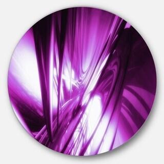 Designart '3D Abstract Art Purple Fractal' Abstract Digital Art Round Wall Art