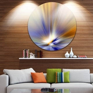 Designart 'Brown Focus Light Upward' Abstract Digital Round Wall Art
