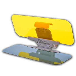 Zone Tech Yellow Day and Night Anti-glare Car Windshield Visor