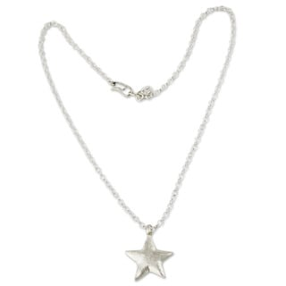 Handmade Sterling Silver 'Wishing Star' Necklace (Peru)