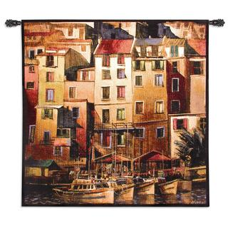 Fine Art Tapestries 'Mediterranean Gold' Multicolored Cotton Wall Tapestry