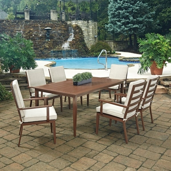 Shop Key West 7 Pc. Rectangular Outdoor Dining Table& 6
