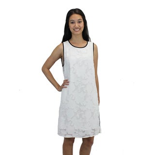 Relished Women's White Floral Shift Dress