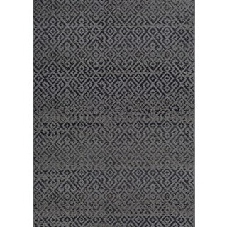 Couristan Monaco Pavers Black Polypropylene Indoor-Outdoor Area Rug (8'6 x 13')