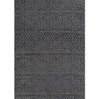 Couristan Monaco Pavers Black Indoor/Outdoor Area Rug - 8'6 x 13'