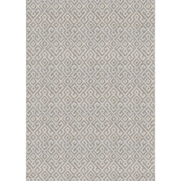 Couristan Monaco Pavers Mocha Indoor Outdoor Area Rug 7 6 X 10 9