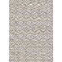 "Samantha Greek Key Beige Indoor/Outdoor Area Rug - 8'6"" x 13'"