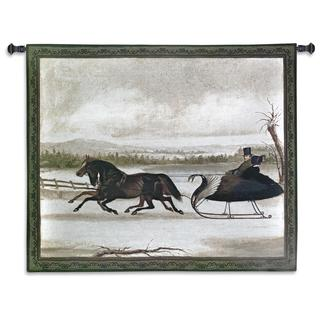 Fine Art Tapestries Vintage 'Smart Turn Out' Framed Wall Tapestry