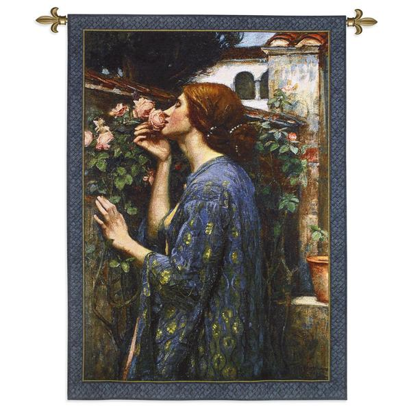 Fine Art Tapestries John William Waterhouse 'The Soul of the Rose' Cotton Wall Tapestry