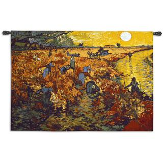 Fine Art Tapestries The Red Vineyard Cotton Wall Tapestry