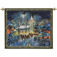 Fine Art Tapestries Midnight Clear Cotton Wall Tapestry