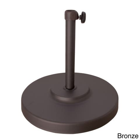 North Bend 50-pound Round Concrete Weighted Powdercoated Steel Umbrella Base by Havenside Home