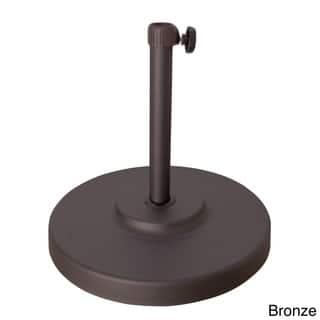Havenside Home North Bend 50-pound Round Concrete Weighted Powdercoated Steel Umbrella Base