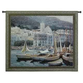 Fine Art Tapestries 'Setting Sail' Multicolored Cotton Wall Tapestry