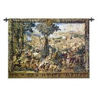 Fine Art Tapestries 'Hunting Parties of Archduke Maximilian' Large Wool and Cotton Wall Tapestry